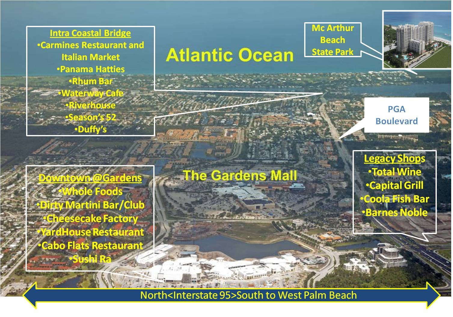 Map Of Gardens Mall West Palm Beach